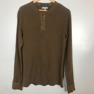 J Crew Wallace & Barnes Henley Thermal Top - Brown
